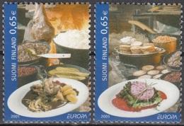 Finland 2005 Michel 1749 - 1750 Neuf ** Cote (2015) 4.00 Euro Europa CEPT La Gastronomie - Unused Stamps