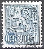Finland 1963 Michel 575 O Cote (2013) 0.30 Euro Lion Stylisé Cachet Rond - Gebraucht