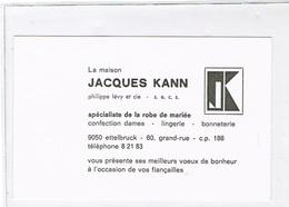 Ettelbruck Carte La Maison JACQUES KANN. - Ettelbruck
