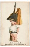 Carte Illustrateur - Bébé - Afraid Of Powder ? 1920 - Publis. Edward Gross Co. N.Y. Comic N° 75 - 2 Scans - Illustrateurs & Photographes