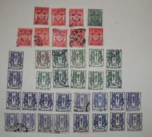 LOT DE 37 TIMBRES IV° REPUBLIQUE CHAINES BRISEES 1945-47+ FRANCHISE TYPOGRAPHIE 1946-58 N°11-12 - Usati