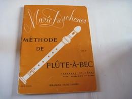 Livre Mario Duschenes Méthode De Flute-à-Bec Volume 1   50 Pages  1957 TBE - Musique