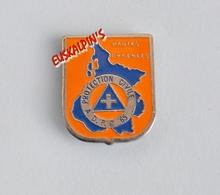 Pin's Association De Protection Civile Du Département Des HAUTES PYRÉNÉES,  ADPC 65 - Pompiers