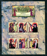 POLAND 2002 POLISH & EUROPEAN SAINTS NHM MS ST. STANISLAW FAUSTYNA KOWALSKA CYRIL METHODY KAZIMIERZ CATHERINE OF SIENA - Cristianismo