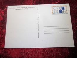 TERRE ADELIE Antarctique  Terres Australes Et Antarctiques Françaises (TAAF) Entiers Postaux Timbre Seul S Carte Postale - Enteros Postales