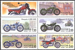 RUSSIA 1999 523-527. The History Of The Motorcycle. Transport - Nuevos
