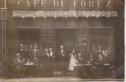 42 - CAFE DU FOREZ - PHOTO - BIERE SEPT-FONS - Autres Communes