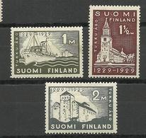 FINLAND FINNLAND 1929 Michel 140 - 142 * - Neufs
