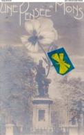 Une Pensée De MONS (Statue Roland De Lassus) Carte Circulée En 1907 - Mons