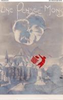 Une Pensée De MONS (Monument Dolez Et Sainte Waudru) Carte Circulée En 1907 - Mons