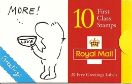 GREAT BRITAIN, FOLDED BOOKLET, 1996, KX 8, Greetings, - Carnets