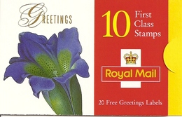 GREAT BRITAIN, FOLDED BOOKLET, 1999, KX 9a, Greetings, Reprint - Carnets