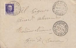 404- Busta Senza Testo Del 1929 Da Ponte Di Nava A Bardino Nuovo (SV) Con Cent 50 Viola . - 1900-44 Vittorio Emanuele III