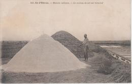 CPA île D'Oléron - Marais Salants - Le Mulon De Sel Est Terminé (jolie Scène) - Ile D'Oléron