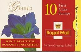GREAT BRITAIN, FOLDED BOOKLET, 1997, KX 10, Greetings, Flowerpromotion - Carnets