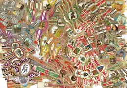 Sig:6: +500oude Sigarebandjes... Verschillende Bandjes .. Verder Uit Te Zoeken.. - Bagues De Cigares