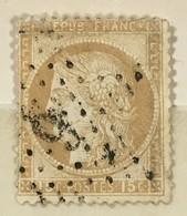 Timbre France III République 1871-75 (°) 15c Bistre Cérès Grands Chiffres YT 55 étoile 6 (côte 5 Euros) – 386e - 1871-1875 Ceres