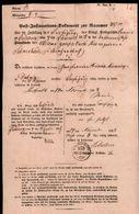 Post - Insinuations - Dokument 1858 , Pritzwalk , Friedeburg , Extrem Rar !!!!!! - Gebührenstempel, Impoststempel