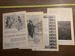1911 JST LE THEATRE MECANIQUE CINEMATOGRAPHE ET PHONOGRAPHE REUNIS - Vecchi Documenti
