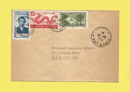 Lettre Par Avion Du Vietnam Pour Paris Le 16 12 1954  De SAÎGON Voir Scanner - Vietnam