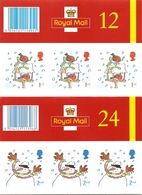 GREAT BRITAIN, FOLDED BOOKLET, 2001, LX 21/22, Christmas - Booklets