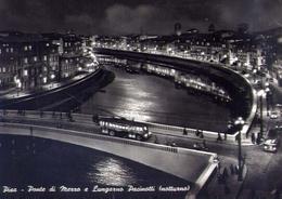 Pisa - Ponte Di Mezzo E Lungarno Pacinotti - Notturno - Formato Grande Viaggiata - E 14 - Pisa