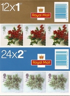 GREAT BRITAIN, FOLDED BOOKLET, 2002, LX 23/24, Christmas - Booklets