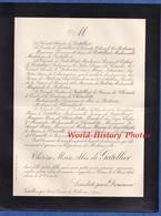 Document De 1900 - Château De GATELLIER / Saint Denis De Cabanne - Thérèse Marie Alix De GATELLIER - Historische Documenten