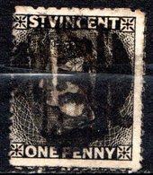 SAINT VINCENT - (Colonie Britannique) - 1871-81 - N° 19 - 1 P. Noir - (Victoria) - St.Vincent (...-1979)