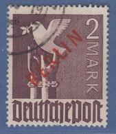 Berlin 1949 Rotaufdruck 2 DM  Mi.-Nr. 34 Gestempelt, Kurzer Zahn Unten Mittig.  - Berlin (West)