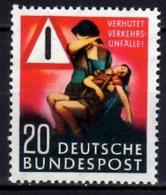 1953 West Germany / Bund - Trafic Accident Prevention/ Verkehrsunfall-Verhütung MNH** MiNr. 162 Safety KW 18 Mie - Ongebruikt
