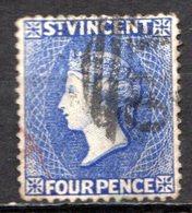 SAINT VINCENT - (Colonie Britannique) - 1883-84 - N° 28 - 4 P. Bleu-violet - (Victoria) - St.Vincent (...-1979)
