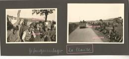 WW2 PHOTO ORIGINALE ALLEMANDE Camp De Prisonniers De Guerre Coloniaux à LA CHARITE SUR LOIRE P. Cosne Cours 58 NIEVRE - 1939-45