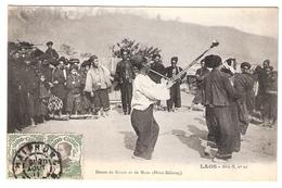 Cpa LAOS  Danse De Kouis Et Maos   Collection Raquuez Serie B N.21      -T- - Laos
