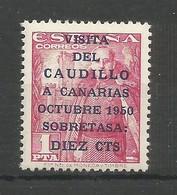 España Spain Espagne Edifil 1089 MNH / ** 1951 Viaje Del Caudillo A Canarias - 1931-Today: 2nd Rep - ... Juan Carlos I