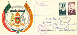 South Africa Registered FDC 21-10-1955 Complete Set PRETORIA Centenary With Very Nice Cachet And Address - South Africa (...-1961)