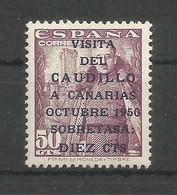 España Spain Espagne Edifil 1088 MNH / ** 1951 Viaje Del Caudillo A Canarias - 1931-Today: 2nd Rep - ... Juan Carlos I