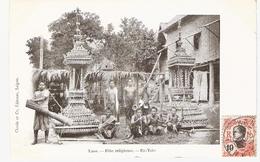 Cpa LAOS   FETE RELIGIEUSE Ex-voto      -T- - Laos