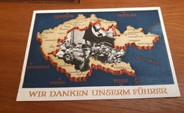 Sudeten Anschluss Postkarte Dritte Reich - Gebraucht