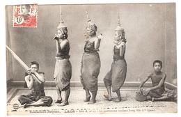 Cpa LAOS  La Pantomisme Laotienne Nang Meo   Collection Raquuez Serie A   N.15      -T- - Laos