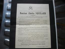 LOUPOIGNE ( GENAPPE ) - ANCIEN FAIRE PART DE DECES - PHARMACIEN SQUELARD 1941 ( NE A CHIMAY ) - Obituary Notices