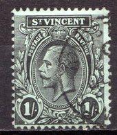 SAINT VINCENT - (Colonie Britannique) - 1909-11 - N° 82 - 1 S. Noir Et Vert - (Edouard VII) - St.Vincent (...-1979)