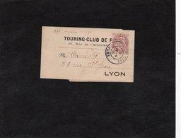 Bande Pour Journaux Fermée - TOURING CLUB DE FRANCE - Cachet LYON GARE Sur YT 108 - Journaux