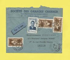Lettre Par Avion  INDOCHINE  De SAÎGON VIETNAM Pour PARIS Le 03 09 1951  Voir Scanners - Vietnam