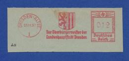 Deutschtes Reich AFS - DRESDEN - ALTST., Der Oberbürgermeister Der Landeshauptstadt  1937 - Machine Stamps (ATM)