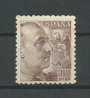 España Spain Espagne Edifil 935 Mint / MH / * 1945 Franco 10PTAS. - 1931-50 Unused Stamps