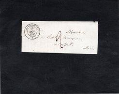 Lettre 1843 - Cachets -  ST POURCAIN - MOULINS SUR  ALLIER - CUSSET - Marcophilie (Lettres)