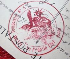 1914 WW1 GUERRE 14/18 Lettre Cachet Hôpital Militaire Temporaire N°5 GRENOBLE Pour NANCY Marcophilie Sur CPA GRENOBLE - Postmark Collection (Covers)