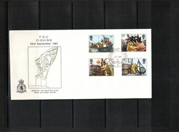 Great Britain 1981 Fishing Royal Air Force FDC Only 50 Issued - Lettres & Documents