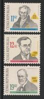 CZECH REPUBLIC 2006 Anniversaries/Gerstner/Ježek/Freud: Set Of 3 Stamps UM/MNH - República Checa